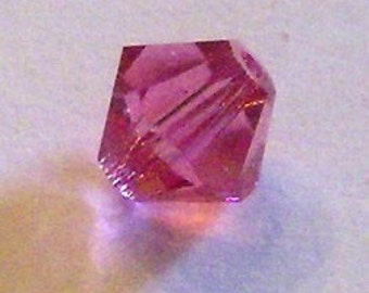 Swarovski crystal beads BICONE crystal beads ROSE (pink) -- Available in 3mm, 4mm, 5mm, 6mm and 8mm