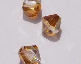 Swarovski crystal beads Bicone 5328 Crystal Beads CRYSTAL COPPER -- Available in 4mm and 6mm