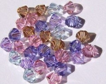 Swarovski Crystal beads, BICONE crystal beads  MIX 30  -- Available in 4mm