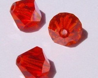 Swarovski crystal beads BICONE 5328 Swarovski elements crystal beads HYACINTH (orange) - Available in 3mm, 4mm and 6mm