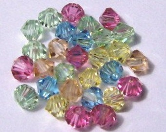 Swarovski elements crystal beads Bicone 5328 Crystal Beads  COTTON CANDY MIX -- 5 different colors -- Available in 4mm and 6mm