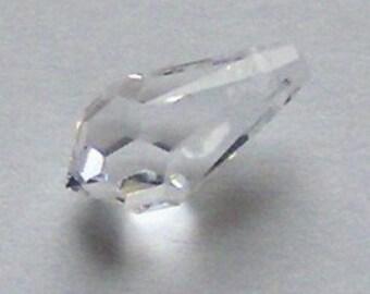 2 Swarovski 11mm TEARDROP 6000 Crystal Beads  CLEAR CRYSTAL