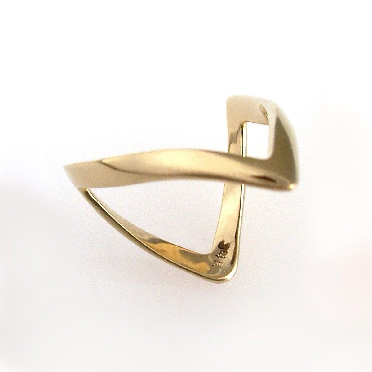 Gold Woshbone Ring