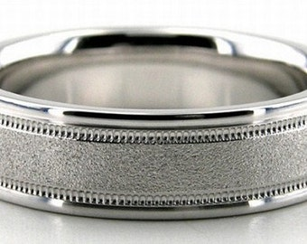 14K Gold Wedding Band Diamond Cut - 6MM - LC1222