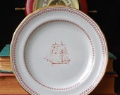 set of six SPODE ship side plates. Bread and Butter baby.