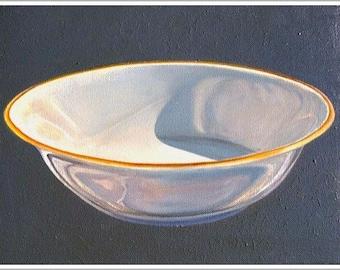 "Art Print ""Round Bowl"" From Original Oil Painting, original still life painting, kitchen ART"