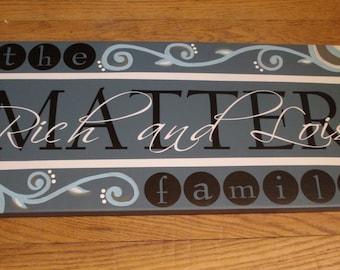 """CUSTOM family name vinyl sign """"Matter Sign"""""""