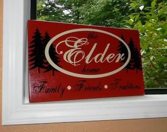 """CUSTOM family vinyl sign PERSONALIZED - """"Elder Sign"""""""