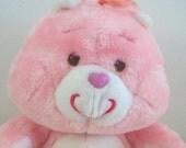 Care Bears Vintage Love A Lot Bear Plush