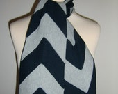 SAle Grey-Blue reproduction 40's scarf