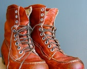 Lace Up Men's Leather Work Boots