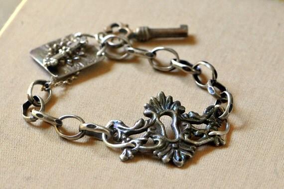 Reserved listing for Mardel Sterling Silver Escutcheon Bracelet