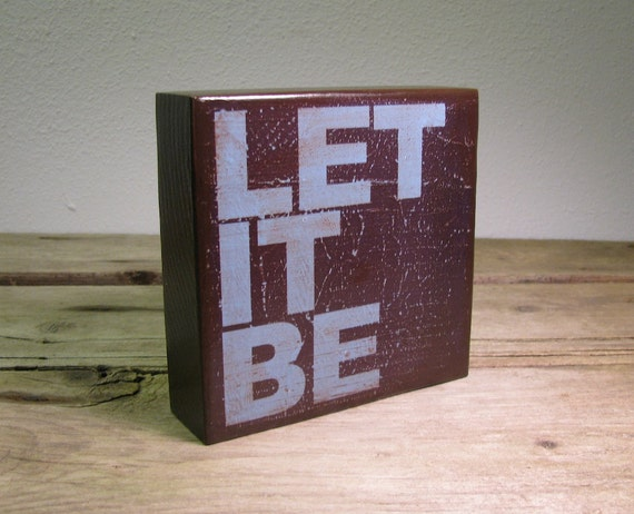 The Beatles Music Art Block Painting - Let It Be - 1384