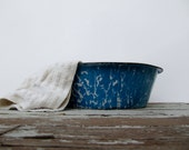Blue and White Enamelware Bowl