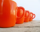 Vintage Orange Diner Glass Mugs