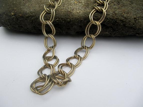 Vintage Gold Toned Metal Large Link Belt or Chain