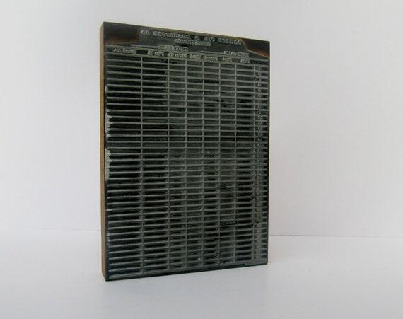 On Reserve-Vintage Metal and Wood Printing Block