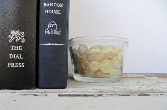 Vintage Small White Buttons Compote