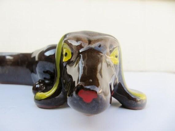 Mid Century Appetizer Holder Ceramic Dog