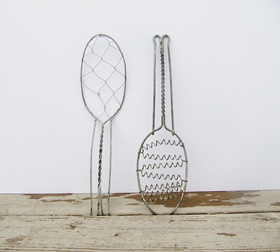 Pair of Wire Whisks Farmhouse Rustic Kitchen