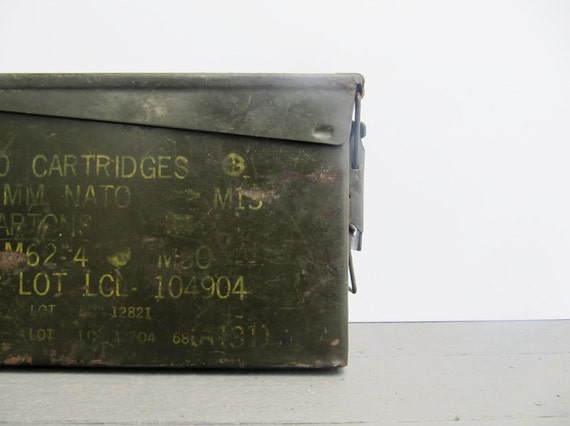 Industrial Decor Military Cartridges Metal Box