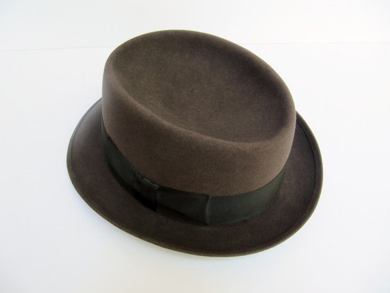 Vintage Men's Stetson Chocolate Brown Fedora