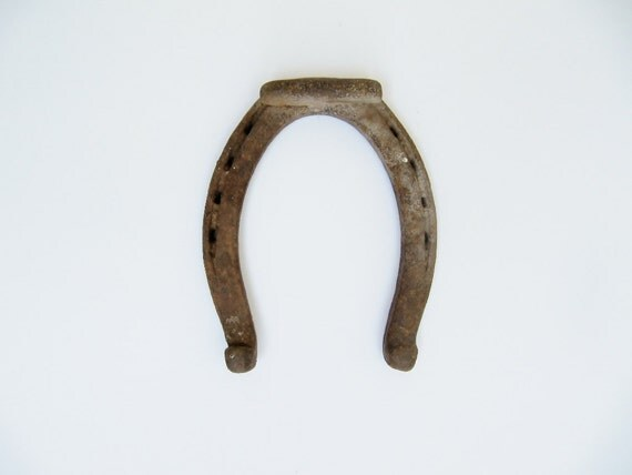 One Single Rustic Horseshoe for Luck