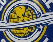 Vintage Blue And Yellow Oldsmobile Service Sign 23 1/2 Inches Round