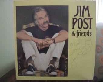 Vintage Jim Post and Friends Signed Record/LP