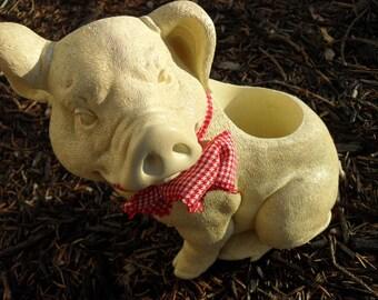 Vintage Resin Pig Planter