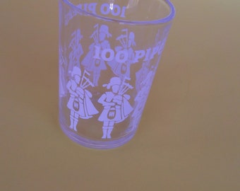 Vintage 100 Pipers Hazel Atlas Shot Glass