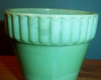 Akro Agate Jade Green Mini Pot 1950s
