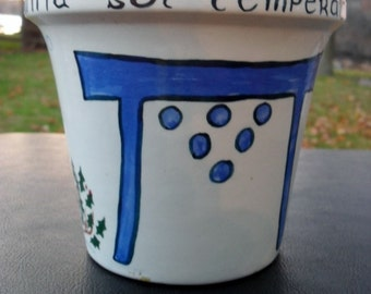 Vintage Omnia Sol Temperate Artistic Flower Pot
