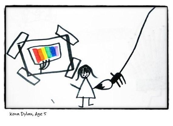 Paint Your Future - 8X10 Child's Art Print