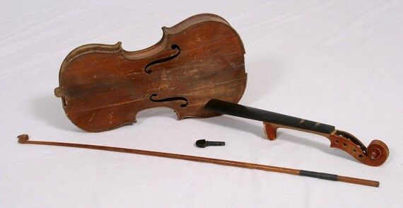 Antique Salzard Violin Fiddle for Display, Project, Repair