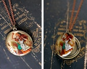 Alice in Wonderland Locket  Necklace