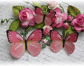 Bubble Gum Butterfly Embellishment Die Cuts for Scrapbooking, Carmaking, Altered Art, Tag Art, Mii Album