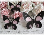 Whispy Pink Butterfly Die Cut Embellishments for Scrapbooking, Cardmaking, Altered Art, Tag Art, Mini Album