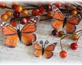 Pumpkin Pie Butterfly Die Cut Embellishment for Scrapbooking,Cardmaking, Altered Art, Tag Art, Wedding, Mini Album