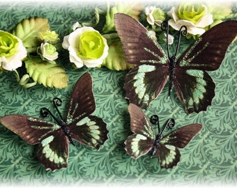 Mint Chip Butterfly Embellishment for Scrapbooking, Cardmaking, Altered Art,Tag Art, Mini Albums
