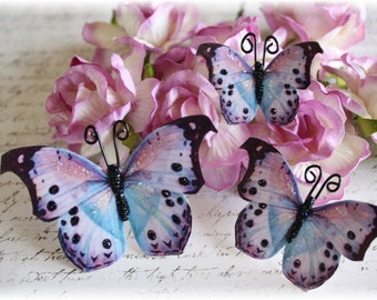 Watercolor Butterfly Die Cut Embellishments for Scrapbooking, Cardmaking, Altered Art, Mixed Media, tag Art, Mini Album