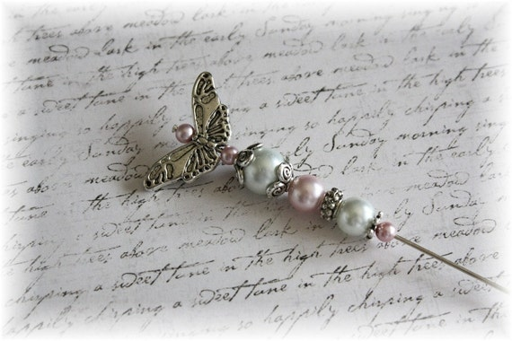 The Shabby Butterfly Pin for Scrapbooking