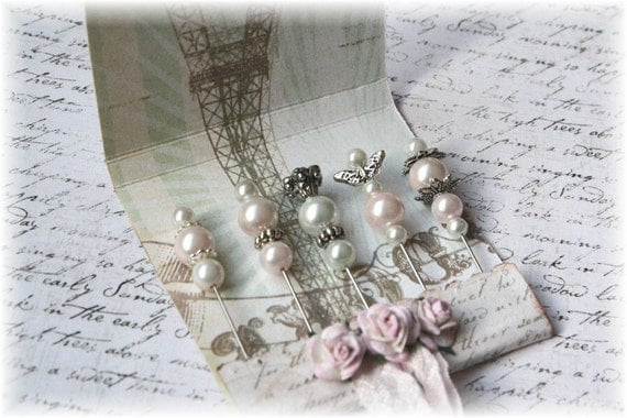 Mini Matchbook Stick Pins Shabby Chic for Scrapbooking or Cardmaking