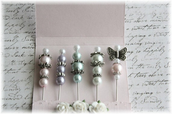 Mini Matchbook Stick Pins Pastel Chic for Scrapbooking or Cardmaking