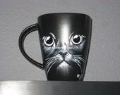 Cats Eye Coffee Mug Hand Painted