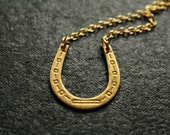 The Horseshoe Necklace, Equestrian Jewelry, Vintage Gold Layering Necklace, Stacking Necklace, Vintage Horse Shoe, Layering Necklace Set
