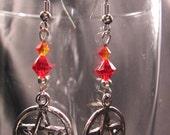 Fire Pentacle Earrings
