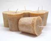 6 Strawberry and Champagne Scented Palm Wax Votive Candles