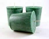 3 Sandalwood Scented Palm Wax Votive Candles