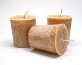3 Fresh Bread Scented Palm Wax Votive Candles